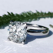 Platinum ring SARAH with moissanite - SOPHYGEMS