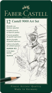 Faber-Castell Castell 9000 Pencils Art Set, Tin of 12