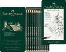 Load image into Gallery viewer, Faber-Castell Castell 9000 Pencils Art Set, Tin of 12
