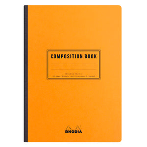 Rhodia Basic Composition Notebook A5 Grid Orange