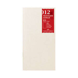 012 TRAVELER'S notebook Refill Sketch Paper