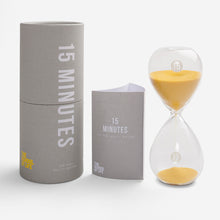 Load image into Gallery viewer, The School of Life 15 Minute Glass Timer