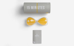 The School of Life 15 Minute Glass Timer