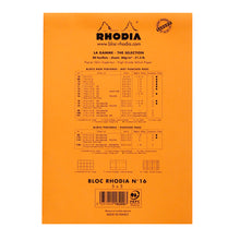 Load image into Gallery viewer, Rhodia Pad No16 A5 Grid Orange