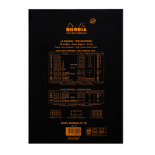 Load image into Gallery viewer, Rhodia Pad No18 A4 Grid Black