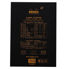 Load image into Gallery viewer, Rhodia Pad No16 A5 Grid Black