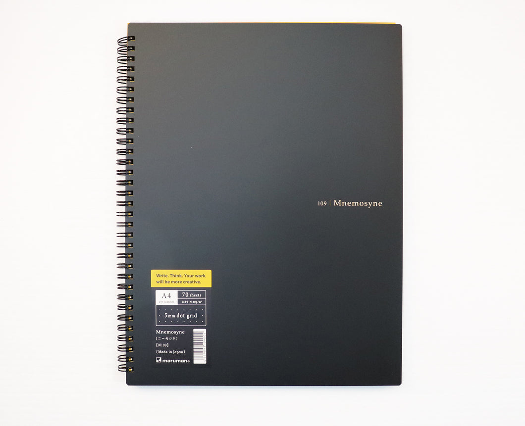 Mnemosyne A4+ Notebook, 5 mm dotted, (210 mm x 297 mm / 8.27 inch x 11.7 inch) [N109]