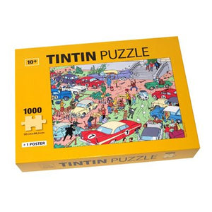 Tintin 1000 Puzzle Rallye Yellow Box