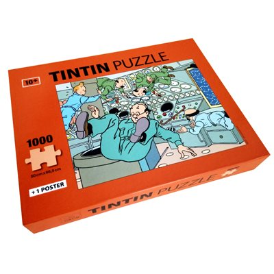 Tintin 1000 Puzzle Weightlessness Red Box