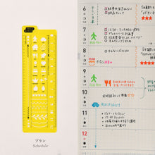 Load image into Gallery viewer, Hobonichi Stencil Schedule