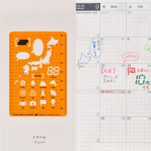 Load image into Gallery viewer, Hobonichi Stencil Travel
