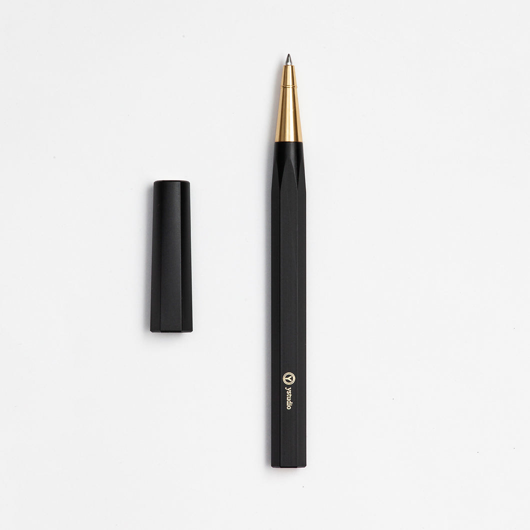 ystudio Black Resin Rollerball Pen