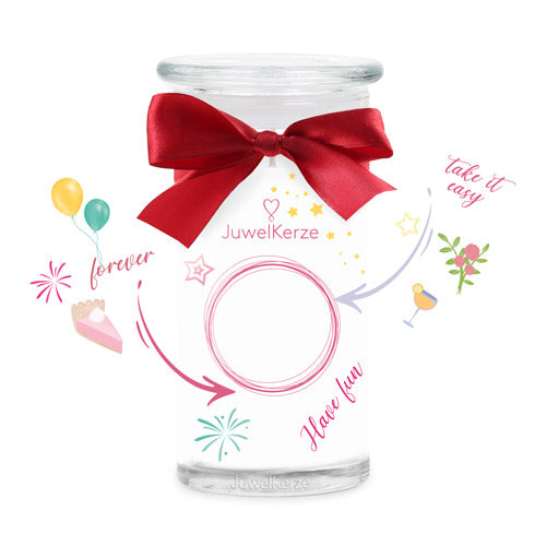 Made By You scented candle with jewel jewelcandle cut big de