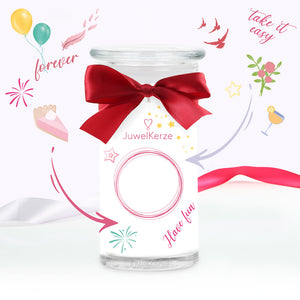 Made By You scented candle with jewel jewelcandle product picture big de