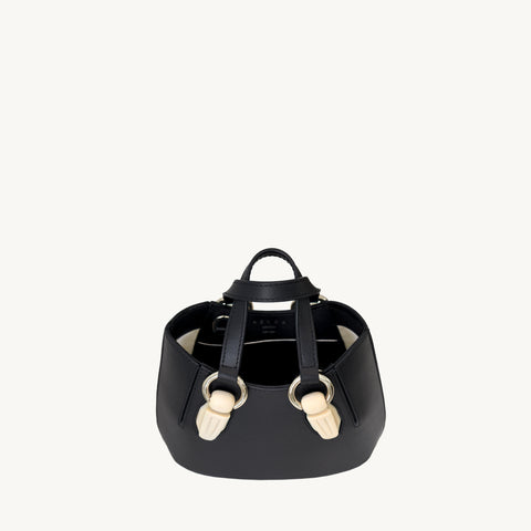 Mini Garnet Tote - Black/Marble-Resin Accessories