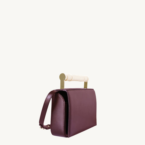 Helve Clutch - Burgundy/Marble-Resin Handle