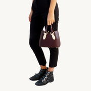 Mini Garnet Tote - Burgundy/Marble-Resin Accessories