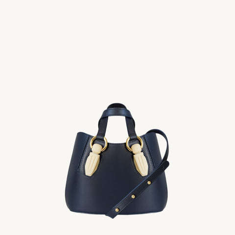 Mini Garnet Tote - Navy/Marble-Resin Accessories