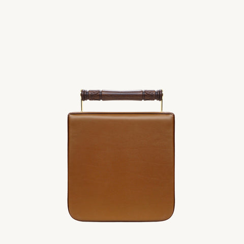 Helve Crossbody - Tan/Wooden Handle