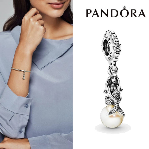 PANDORA Disney Luminous Ariel Dangle Charm パンドラ ホワイト