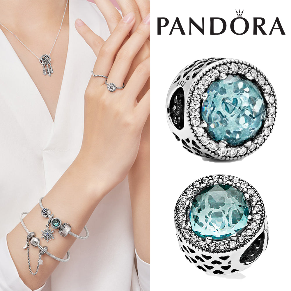 50%OFF PANDORA Glacier Blue Radiant Hearts パンドラ チャーム 791725NGL