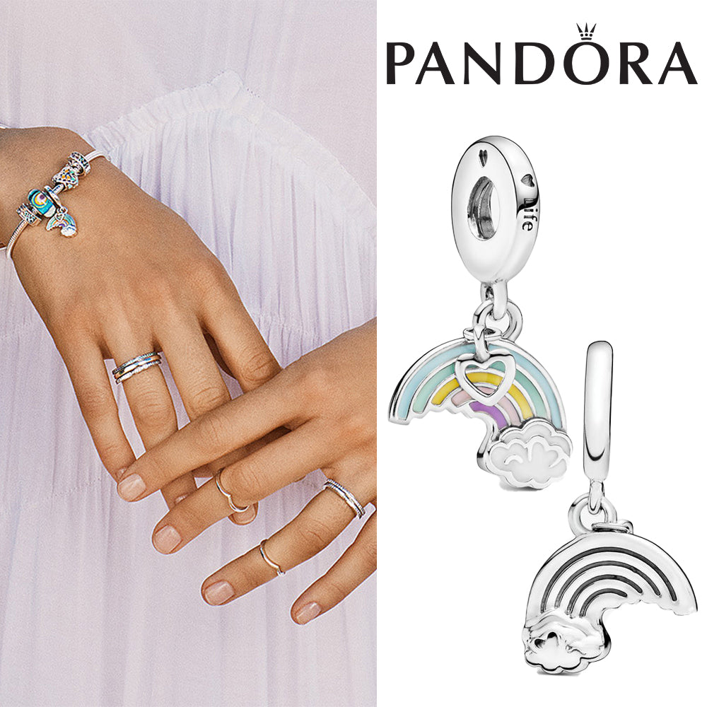 PANDORA Rainbow & Cloud Dangle Charm パンドラ チャーム 797016ENMX
