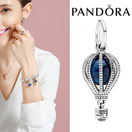 PANDORA Blue Hot Air Balloon Travel Charm パンドラ チャーム 798064NMB