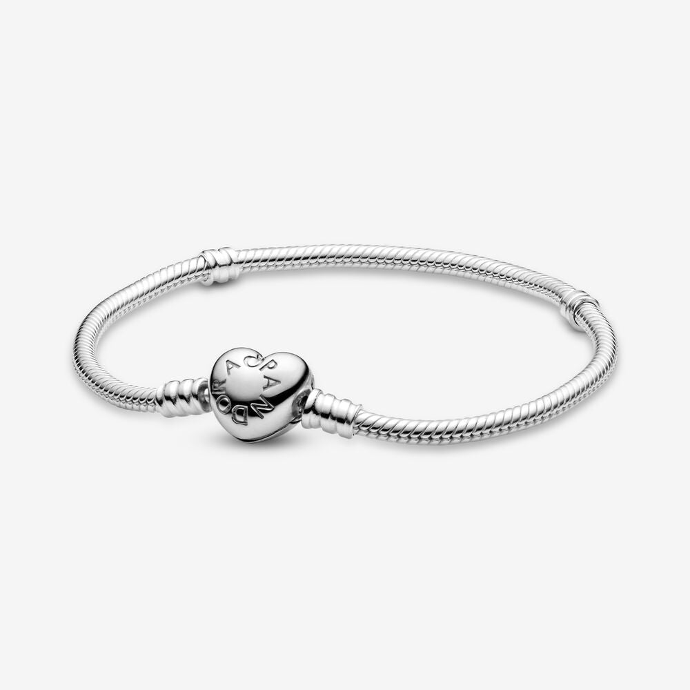 30%OFF  PANDORA Moments Heart & Snake Chain Bracelet パンドラ チャーム590719