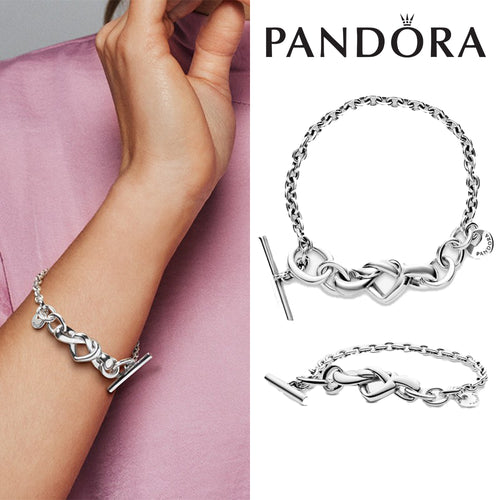 PANDORA Knotted Heart T-Bar Bracelet パンドラ チャーム 598100