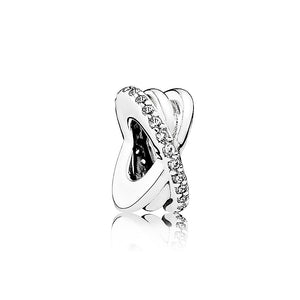 PANDORA Sparkling & Polished Lines Spacer Charm パンドラ チャーム 791994CZ