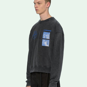 Off white printed sweatshirt  スウェット ブラック