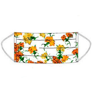 "Escada Stoffmaske ""de Luxe"" White Orange Flowers"