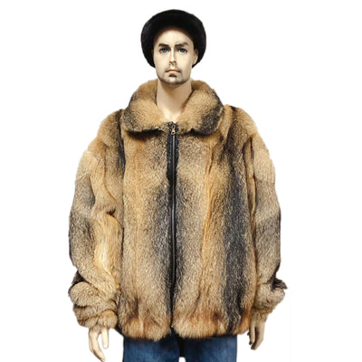 Full Skin Fox Jacket - Natural Grey Fox