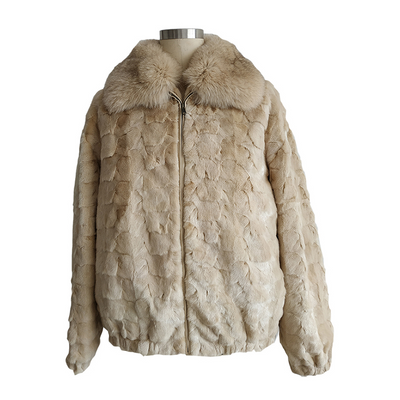 Diamond Mink Jacket - Pearl