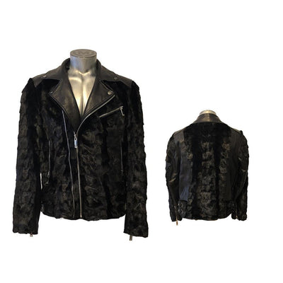 Diamond Mink Motor Jacket - Black