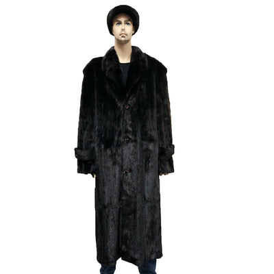 Full Skin Mink Trench Coat - Black