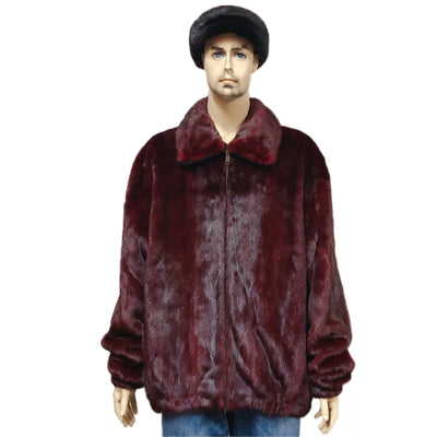 Full Skin Mink Jacket - Burgundy