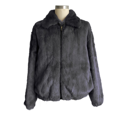 Full Skin Mink Jacket - Grey