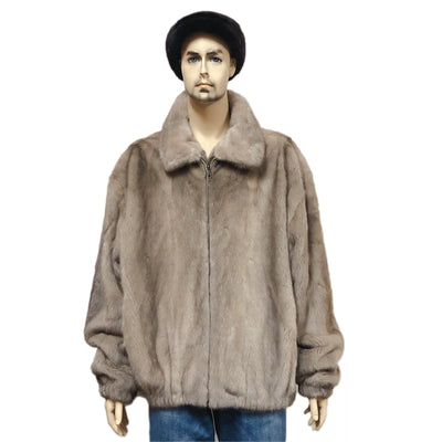 Full Skin Mink Jacket - Tan