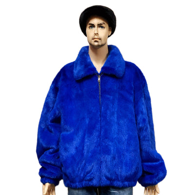Full Skin Mink Jacket - Royal Blue
