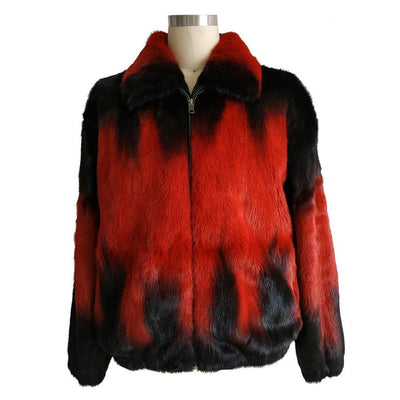 Full Skin Mink Jacket - Red Degrade