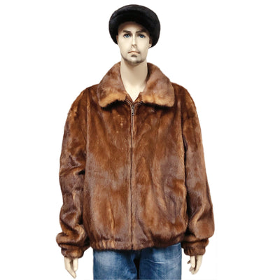 Full Skin Mink Jacket - Whiskey