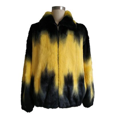Full Skin Mink Jacket - Yellow Degrade