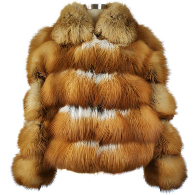 Full Skin Natural Red Fox Jacket - Natural Red Fox