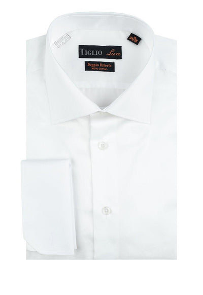 Brite Creations White Dress Shirt, French Cuff, by Tiglio Genova FC TIG3012
