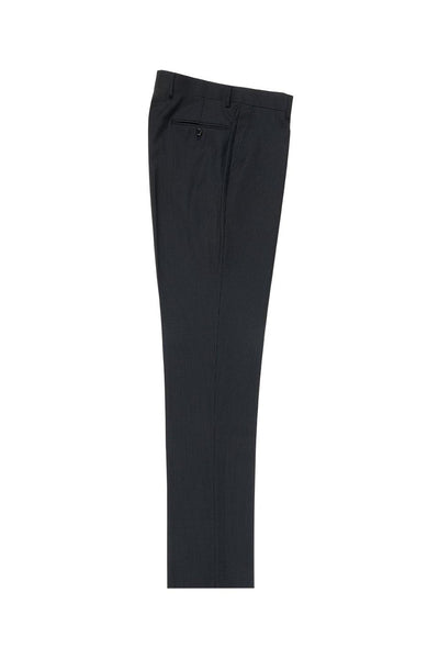 Brite Creations Mini-Stripe Flat Front Wool Dress Pant 2560 by Tiglio Luxe TIG1046
