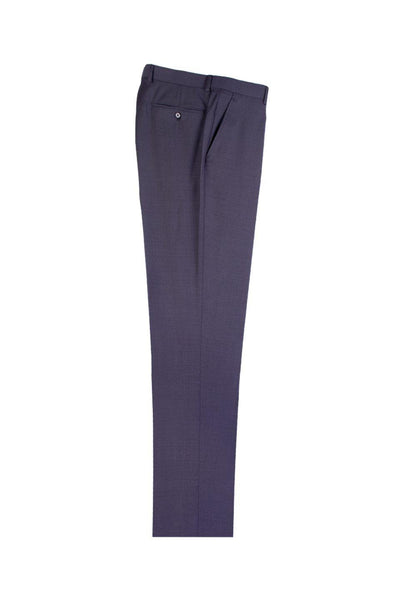 Brite Creations Dark Gray Herringbone Flat Front Wool Dress Pant 2560 by Tiglio Luxe 1