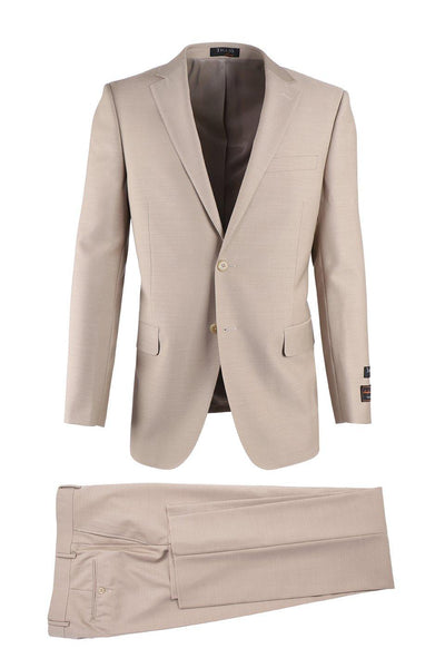 Brite Creations Novello Tan, Modern Fit, Pure Wool Suit by Tiglio Luxe TIG1004