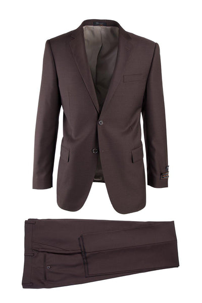 Brite Creations Novello Brown, Modern Fit, Pure Wool Suit by Tiglio Luxe TIG1003