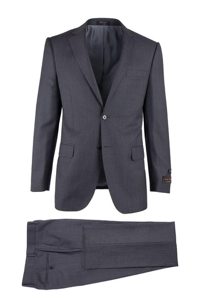 Brite Creations Novello Dark Gray Birdseye, Modern Fit, Pure Wool Suit by Tiglio Luxe